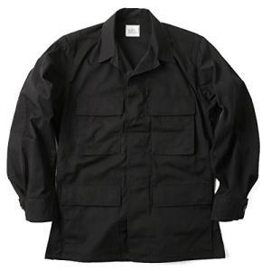 実物 新品 米軍 ブラック リップストップジャケット BLACK357(MEDIUM-REGULAR...