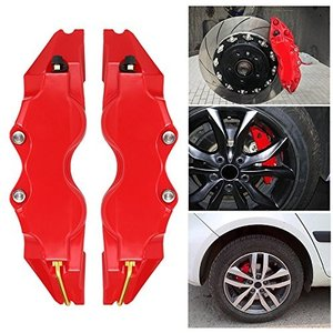 KKmoon キャリパーカバー フロントリアオートユニバーサルキット ABS Mサイズ 2PCSセット|merciteam