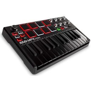 AKAI Professional USB MIDIキーボードコントローラー 8パッド MPK Mini MK2 ブラック【数量限定】|merciteam