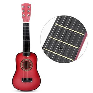 子供用 おもちゃ ギター 初心者モデル21インチ ミニギター 楽器 知育玩具 写真 撮影用 ギフト????(ピンク)|merciteam