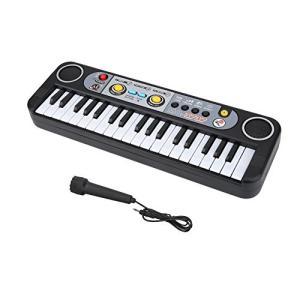 37鍵 マイクロ 電子ピアノ 子供用 電子キーボード 24デモソング・3音色・8リズム マイク付き 知育おもちゃ クリスマス 祝日 ギフト|merciteam