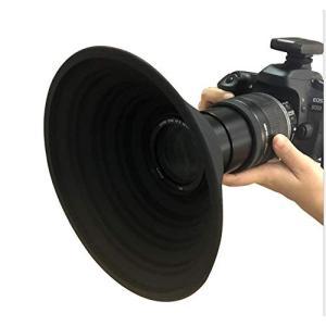 レンズフード 忍者フード 夜景撮影 窓ガラスの映り込みを防止 簡単装着 一眼レフ 望遠レンズ 動画撮...