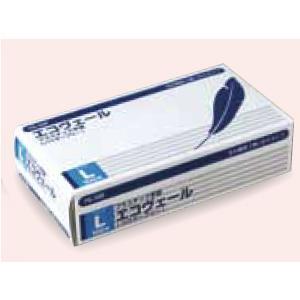 プラスチック手袋(パウダーフリー)エコヴェール YG-500-3 Lサイズ 100枚/箱【返品不可】