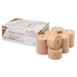 【在庫処分】3M マルチポア ライトブラウン 粘着性綿布伸縮包帯 2733-37.5 37.5mmx5.0m 12巻/箱 スリーエムヘルスケア|merecare