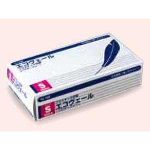 プラスチック手袋(パウダーフリー)エコヴェール YG-500-1 Sサイズ 100枚/箱【条件付返品可】