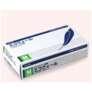 プラスチック手袋(パウダーフリー)エコヴェール YG-500-2 Mサイズ 100枚/箱 オカモト...