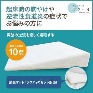 [逆流性食道炎・胃全摘術後などに] 安心の日本製! ラクーイ10度背上げマット+膝裏マットラクア|merise