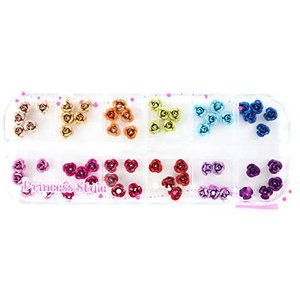 アルミ薔薇 上質 12色×各5個セット ケース入り (6mm) (6mm) merock