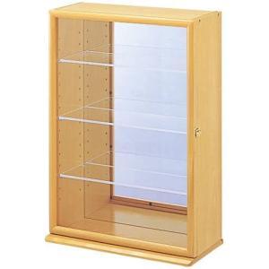 ナカバヤシ コレクションケース プラス 透明アクリル棚板タイプ ナチュラル木目 W330xD170xH480mm CCM-103-NM merock