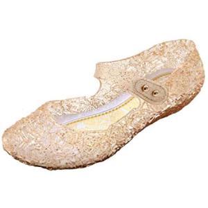 [リタル ピーチ] L-Peach 子供用 プリンセス なりきり ラバーサンダル キラキラ お姫様 (ゴールド ベロクロ 15.5 cm)|merock