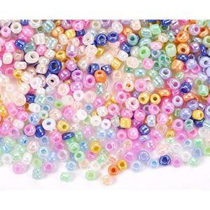 丸玉小ビーズ シードビーズ ランウド 手芸用品 DIY用パーツ 混合色入り15色|merock