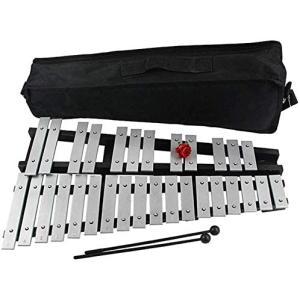 ybaymy 折りたたみ式 卓上 鉄琴 30音 マレット2本 収納ケース付き 音階付き鍵盤|merock