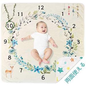 寝相アート ベビーシーツ 新生児 写真撮影 ベビー撮影用毛布 百日記念 写真立て 背景 小道具 ベビーマット  赤ちゃん 子どもの成長の記録   merock