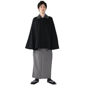 (キョウエツ) KYOETSU 和装コート メンズ ケープ ポンチョ ウール カシミヤ混 (ブラック)|merock