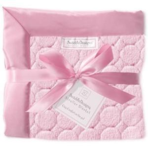 スワドルデザインズ ベビーカー ブランケット 毛布 ジュエルパフサークルウィズサテントリム ピンク 出産祝い ふわふわ (ピンク) merock