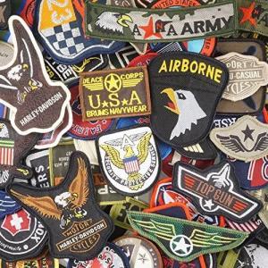 JINSELF ミリタリーワッペン 18枚セット アイロン サバゲー 自衛隊 アメカジ 補修 USA18A (#02)|merock