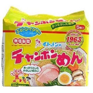 イトメン チャンポンめん 100g 5食パック×6個 merock