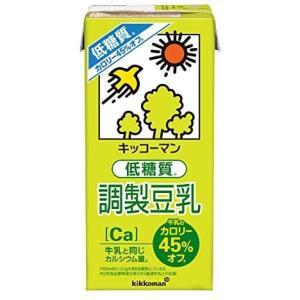 キッコーマン飲料 低糖質調製豆乳 1000ml ×6本 merock