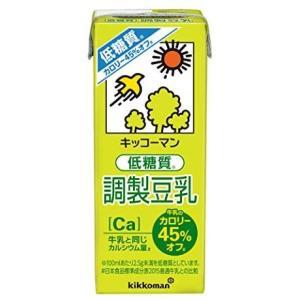 キッコーマン飲料 低糖質調製豆乳 200ml ×18本 merock