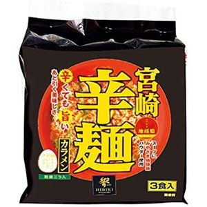 響 宮崎辛麺(即席麺) 3食 ×3袋 merock