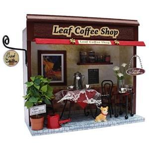 ビリー 手作りドールハウスキット 街角のお店キット リーフコーヒーショップ 8787 merock