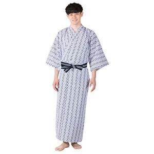 [キョウエツ] 旅館浴衣 3点セット(浴衣/共紐/丹前帯) メンズ (5 150)|merock
