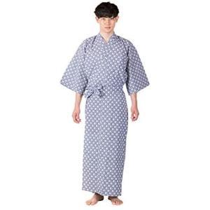 [キョウエツ] 旅館浴衣 2点セット(浴衣/共紐) メンズ (03(共紐付き) 145)|merock