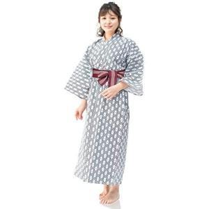 [キョウエツ] 浴衣セット 旅館浴衣 3点セット(旅館浴衣、帯、共紐) レディース (2 125)|merock