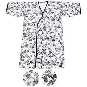 ガーゼ寝巻き 七分袖 七分丈 安心安全の日本製 パジャマ、入院、介護用としてお使い頂けます (2460F 婦人用) (婦人用)|merock