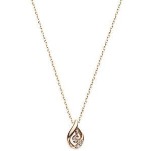 [ヴァンドーム青山] VENDOME AOYAMA K18PG ダイヤモンド ドロップ ネックレス AGAN619440DI|merock