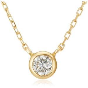 [VAヴァンドーム青山] VA VENDOME AOYAMA K18YG ダイヤモンド 0.10ct ベゼル 一石 ネックレス|merock