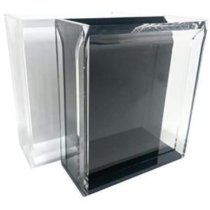 メダカ選別ケース アクリル製 プロ仕様 撮影用容器 観察ケース 横見 薄型 白黒 ペア 改良めだか ビオトープ|merock
