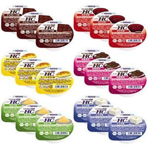アイソカル ジェリー HC 6種お試し18個セット (とうふ、スイートポテト、あずき、チョコレート、黒糖、きなこ×各3個) 計18個 総合栄養補助食品|merock