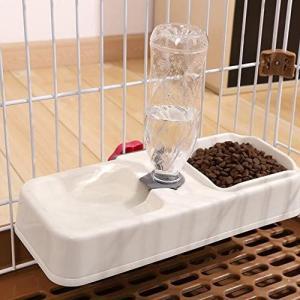 Gifty ペット用品 自動給水器 犬 猫 給水 給餌 水やり 水飲み 食器 ケージ固定 留守番用 (ベージュ M)|merock