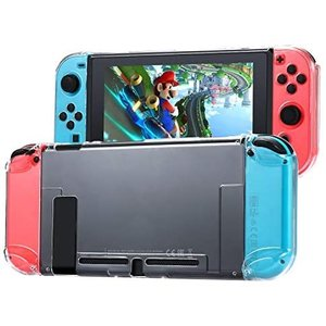 Tasikar Nintendo Switch用カバー 分離したの透明なケース 超薄型 任天堂スイッチケース 対応ドックとJoy-Con (透明)|merock