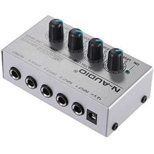 Andoer ミキサー サウンドミキサー 4チャンネル オーディオミキサー 110-240V 楽器・音響機器 MX400|merock