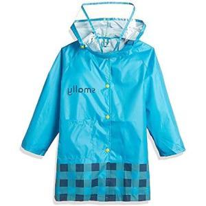 Smart-KMT005 レインコート レインウェア 雨具 キッズ 子供 レインコート 可愛い 超軽量 通学 (ブルー 90-100) merock
