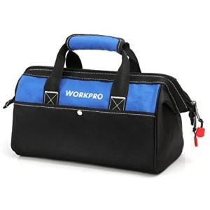 WORKPRO ツールバッグ 工具差し入れ 道具袋 工具バッグ 大口収納 600Dオックスフォード ワイドオープン 幅33cm (13-Inch)|merock