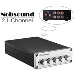 新登場!Nobsound HiFi 2.1チャンネル オーディオ パワーアンプ ステレオ アンプ 2×50W + 100W サブウーファー merock