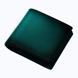 (ラファエロ) Raffaello 一流の革職人が作る スフマート製法で仕立てたメンズ二つ折財布 (フォレストグリーン) merock