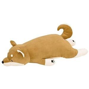 りぶはあと 抱き枕 プレミアムねむねむアニマルズ 柴犬のコタロウ Lサイズ W73xD32xH18cm|merock