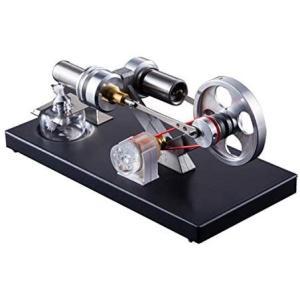 Aibecy ホットエアー スターリングエンジン 発電機 モーター 模型DIYキット 知育 科学 実験器材 物理おもちゃ(4個)LEDランプ付き|merock