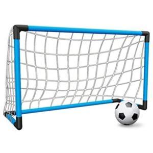 HONEI サッカーゴール サッカーボール 子供 サッカー 練習 室内 屋外用 3サイズゴール選べる 組み立て 簡易ゴール 空気入れ (Large) merock