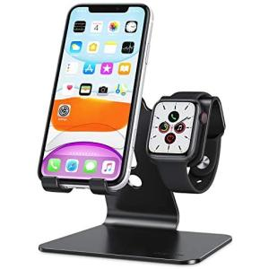 Apple Watchスタンド、OMOTON 2 in 1ユニバーサルデスクトップスタンドホルダー、iPhoneおよびApple merock