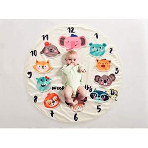 You Jia 出産祝い ベビーフォト 寝相アート 撮影シーツ ブランケット子供 フランネル 90*90cm 動物の柄 (動物の柄) merock
