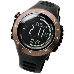 [ラドウェザー]デジタル時計 温度計 歩数計 100m 防水時計 (ブラウン反転) (ブラウン反転)|merock