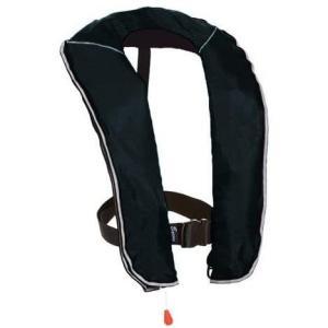 eyson(エイソン) ライフジャケット インフレータブルベストタイプ 釣り用 自動/手動膨張 救命胴衣 CE認定済 (ブラック 手動式)|merock