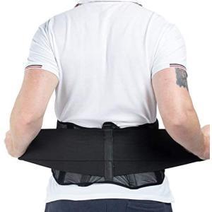 腰ベルト 腰サポート腰痛予防 腰サポーター腰用コルセット ダイエット ウエストニッパー メッシュデザイン通気性抜群 姿勢矯正 (黒 L サイズ)|merock
