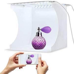 6色の背景の20cmミニフォトライトボックス、小物用の折りたたみ式写真ライトボックス merock