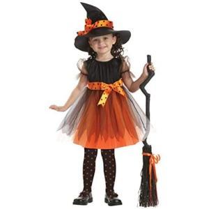 ハロウィン コスプレ キッズ かぼちゃ こうもり 赤ずきん コスチューム 魔女 蜘蛛 くも 仮装 衣装 小悪魔 悪魔(Type C 160cm) merock